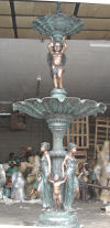 Giant Cherub Tier Fountain Bronze Sculpture