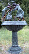 Four Dancing Maiden Ladies Bronze Fountain