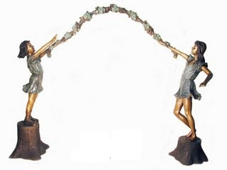 Arbor Kids Bronze Sculpture Fine Art Garden Decor
