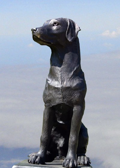 Black Labrador Retriever Bronze Statue