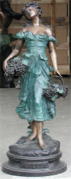 Grape Goddess Bronze Sculpture 36