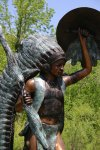 Rain Dance Indian Life-size Bronze 82
