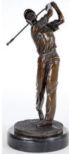 The Golfers Pike Bronze Sculpture Golf