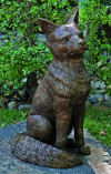 Fox Sculpture Brass 21