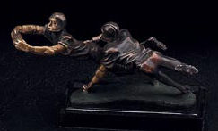 Football Players On Marble Base Sculpture