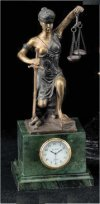 Blind Justice Sculptural Kneeling Clock