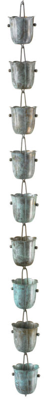 Copper Bluebell Raincup Downspout