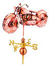 Motorcycle Weathervane Sculpture