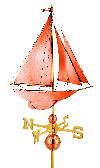 Sail Boat Racing Sloop Weathervane 27