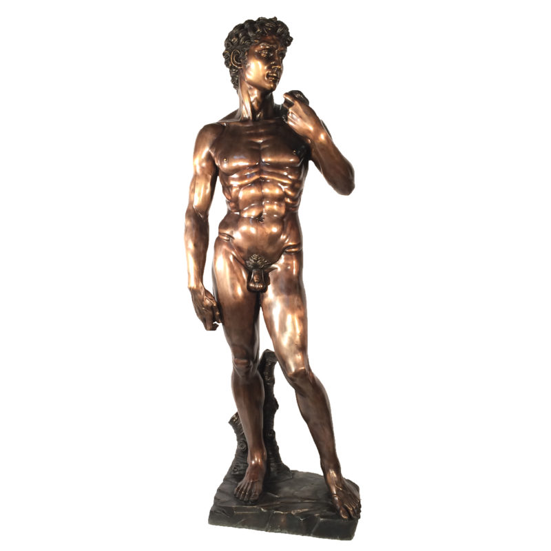David By Michelangelo Bronze Life-size Statue