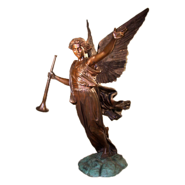 Gabriel Angel Bronze Life-Size Sculpture